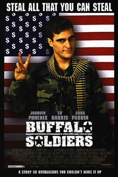 Buffalo Soldiers is a black comedy set in the late 1980s with an outstanding hilarious Joaquin Phoenix as the protagonist. #MOVIES