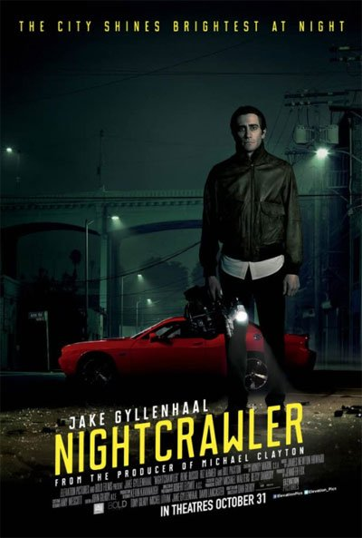 Nightcrawler is the crazy story of a ruthless psychopath making a career quickly as a violent filmmaker for the news. #MOVIES