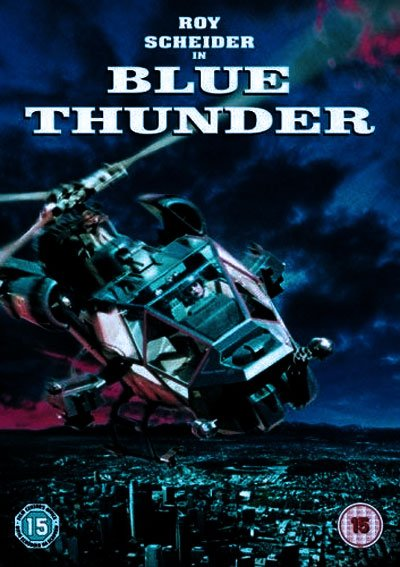 Blue Thunder is an original and funny '80s movie, famous for its spectacular acrobatic city helicopter sequences.