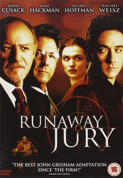 Runaway Jury is a legal thriller that catches gun control's burning trial intelligently and excitingly. #MOVIES