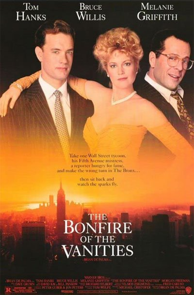 The Bonfire of the Vanities is a tragicomic epic with a rich protagonist defenseless against oppression by lawyers and mass media. #MOVIES