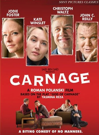 Carnage is a funny and ruthless verbal war between two bourgeois couples. #MOVIES