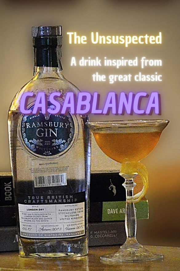 Casablanca fans, here for you a drink with Ramsbury Gin, English London Dry, from the movie with Humphrey Bogart and Ingrid Bergman. #MOVIES
