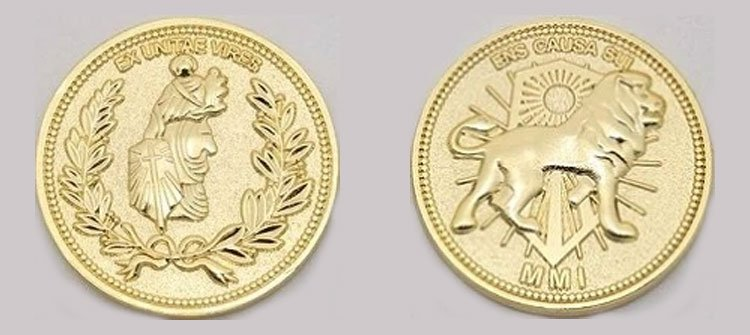 John Wick's gold coins two faces
