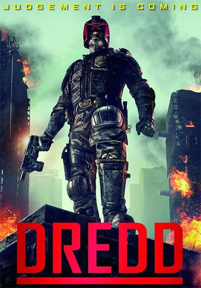 """Dredd is the answer to the future question """"How many judges Mega City One needs to rule the law?""""? Just one, of course. #MOVIES"""