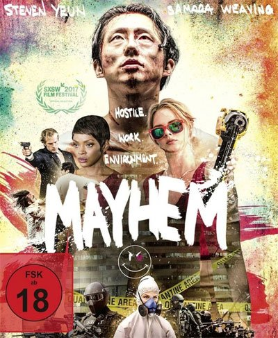 Mayhem is a movie combining horror, fun, violence, and a pinch of bitter social criticism to the world of work. #MOVIES