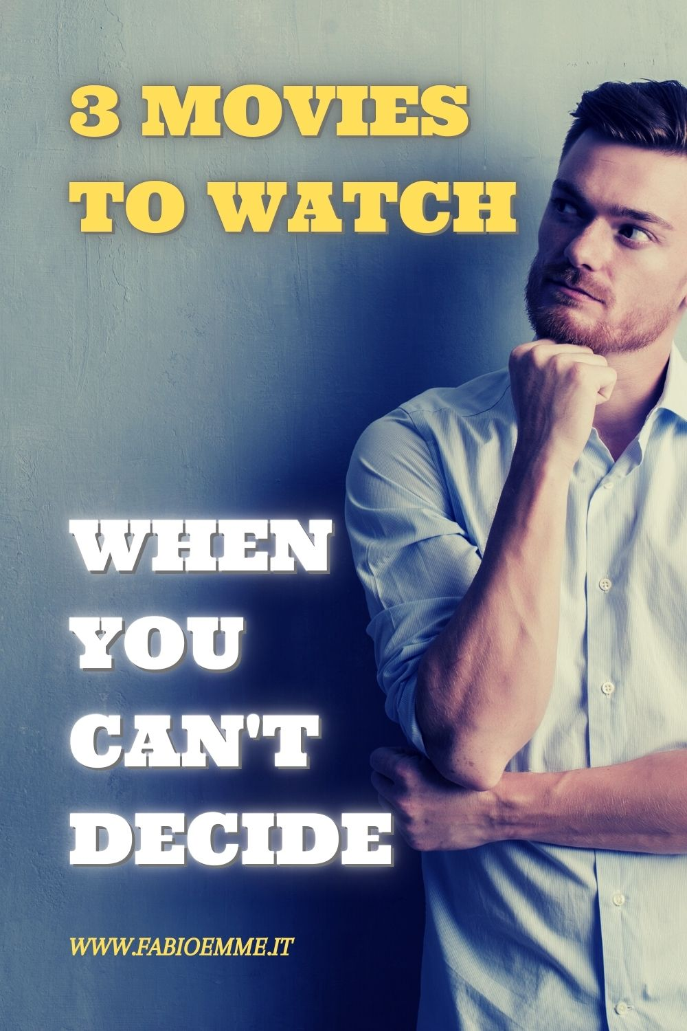 Here for you three movies to put on your tv when you can't decide what to watch after a long stressful day... alone or with friends! #MOVIES