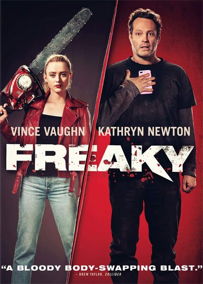 Freaky is a 2020 horror comedy movie with a scary and funny body swap between a blondie teenager and a ferocious serial killer. #MOVIES