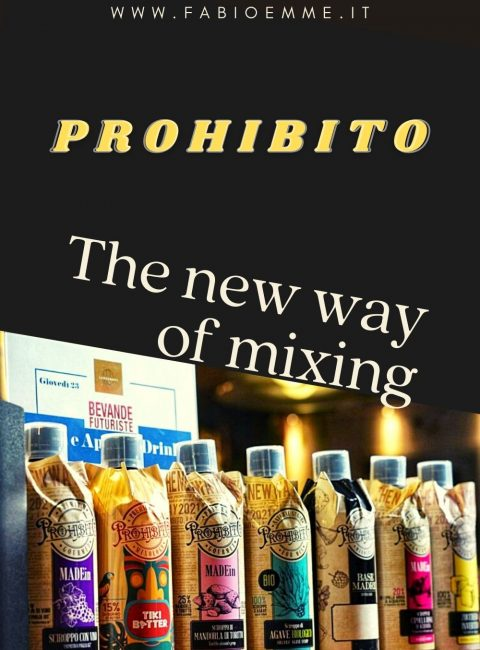 Prohibitois the new syrup line for bar and bartenders that Bevande Futuriste presented at the 2021's Florence Cocktail Week.